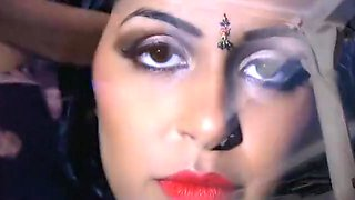 Mia Rai Stripping Saree