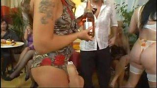 Experienced hotties enjoy a hot group fuck