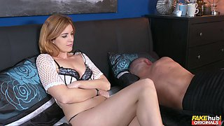 Young redhead gets fucked with her boyfriend sleeping next to her