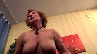 Bodacious blonde granny in stockings gets fucked by her boss
