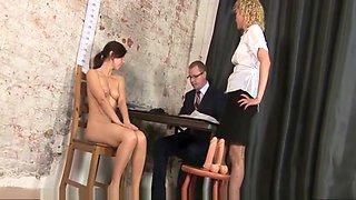 Kinky job interview for sexy secretary