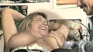 Curvaceous and busty mature blondie likes sex with a stranger