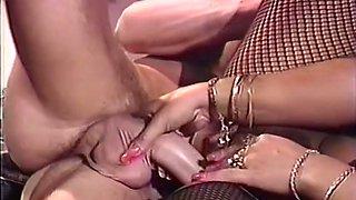 Gorgeous vintage bronze skin brunette having passionate sex